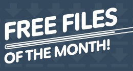 Envato Marketplaces Free Files of the Month Jan 2014