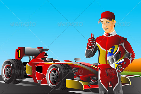 Race Car Driver - Sports/Activity Conceptual