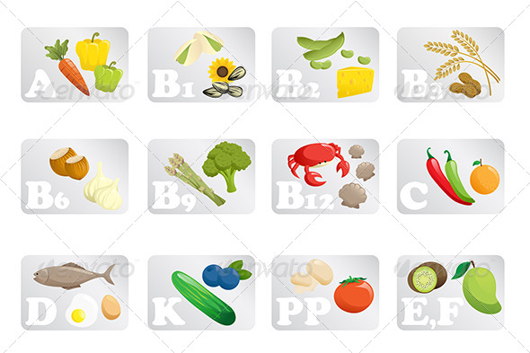 Food Vitamins - Food Objects