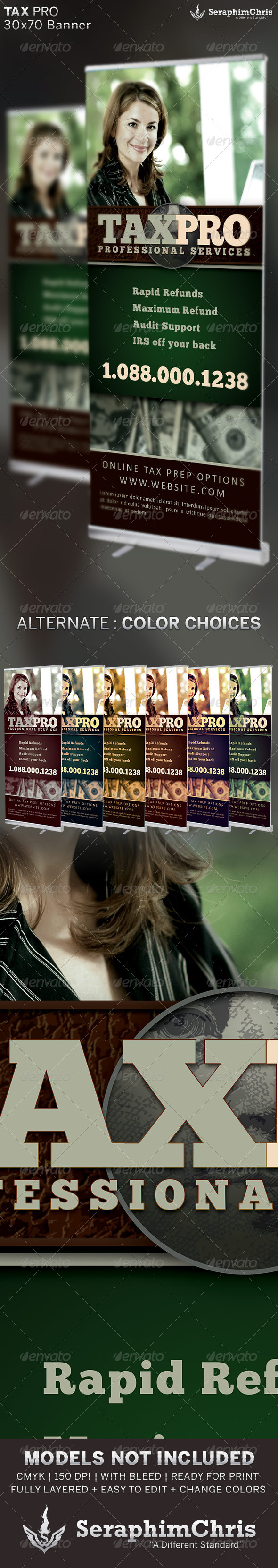 Tax Pro Banner Template - Signage Print Templates