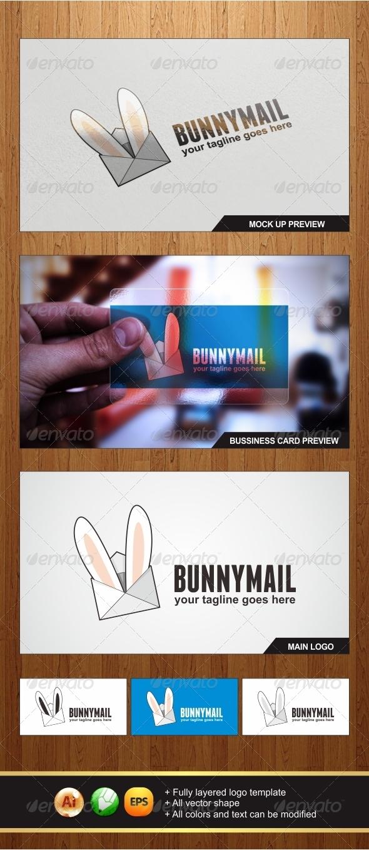 Bunny Mail Logo - Objects Logo Templates