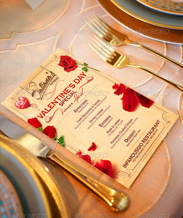 St. Valentine's Menu 1 - Restaurant Flyers