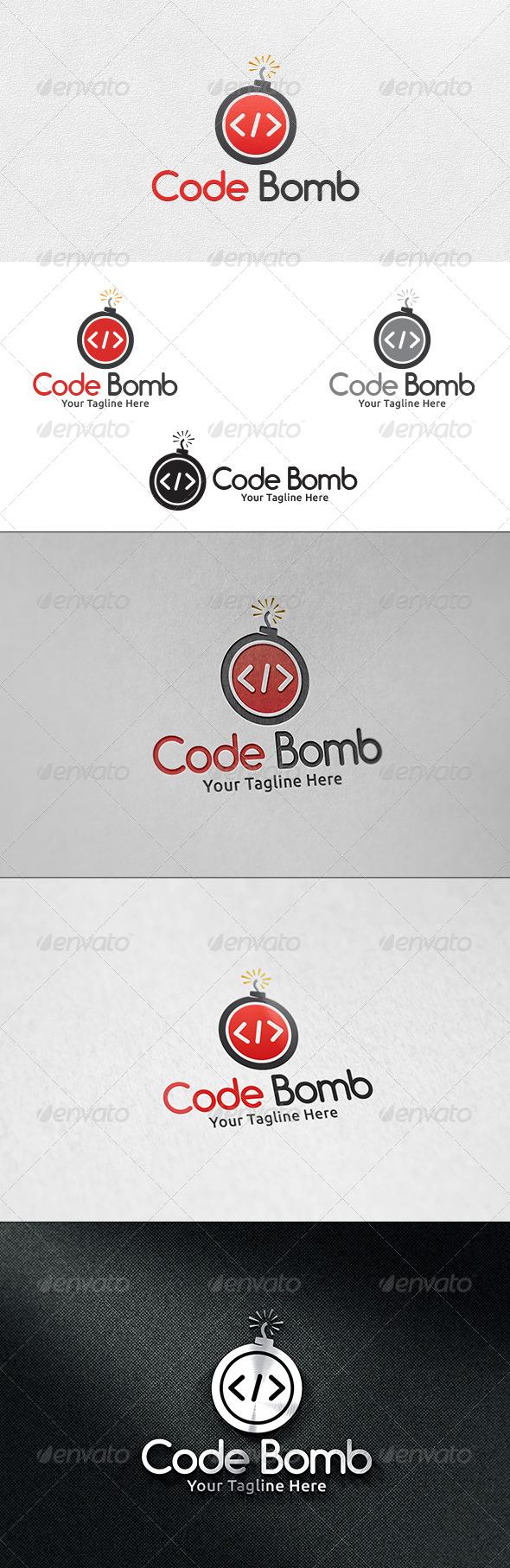 Code Bomb V2- Logo Template - Symbols Logo Templates