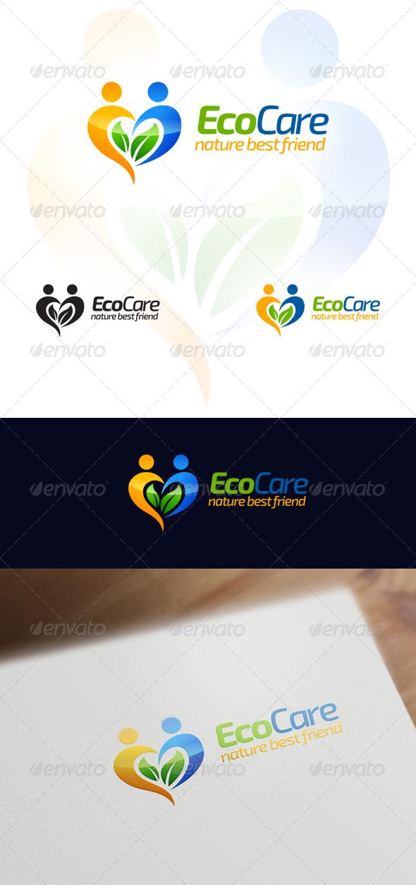 Eco Care - Natural & Wellness Logo Design - Nature Logo Templates