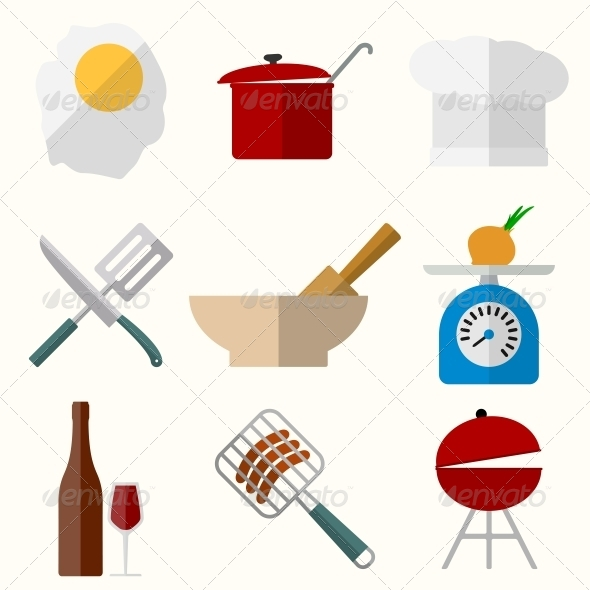 Cooking Icons - Web Elements Vectors