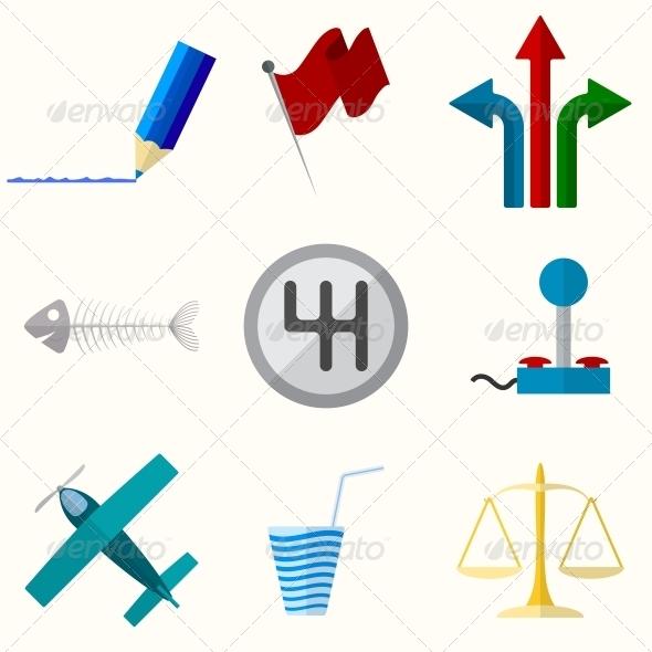 Universal Vector Flat Icons - Web Elements Vectors