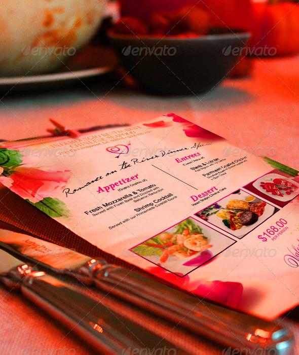 St Valentines Menu 2 - Restaurant Flyers