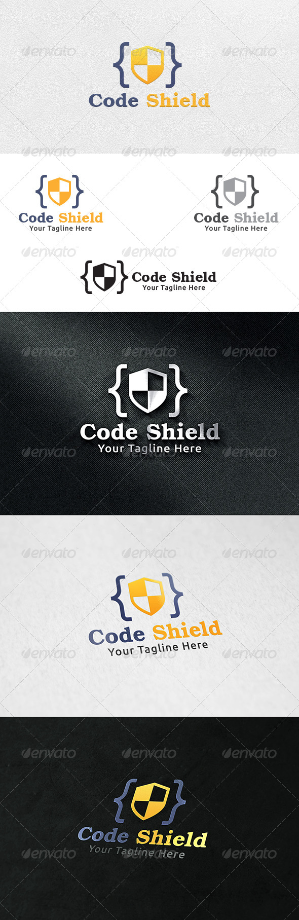 Code Shield - Logo Template - Crests Logo Templates