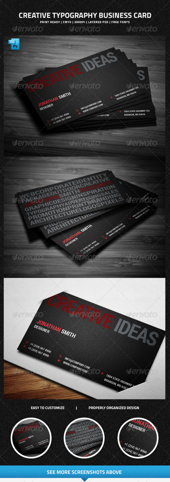 Creative Typography Business Card - 25 - Creative Business Cards