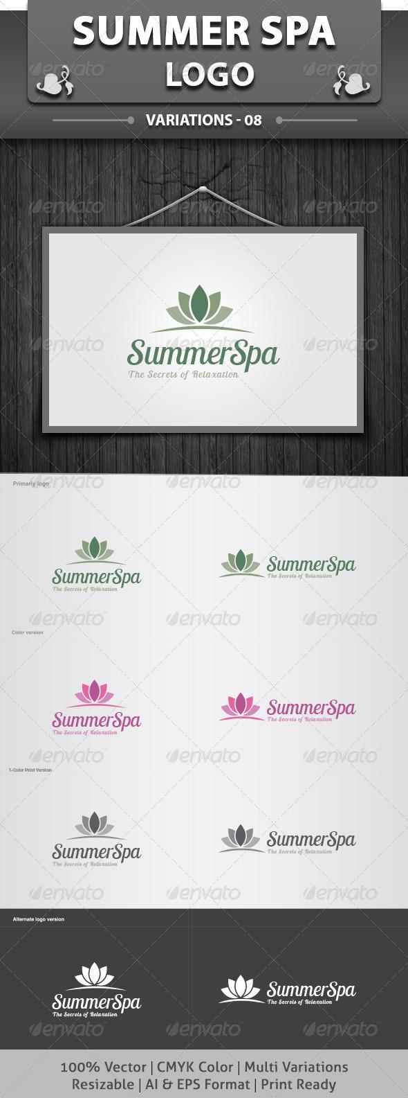 SummerSpa Logo - Nature Logo Templates