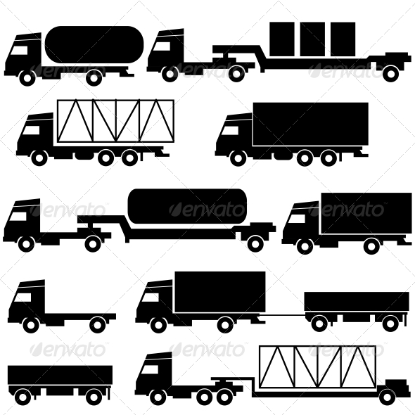 Transportation Symbols Set - Man-made Objects Objects