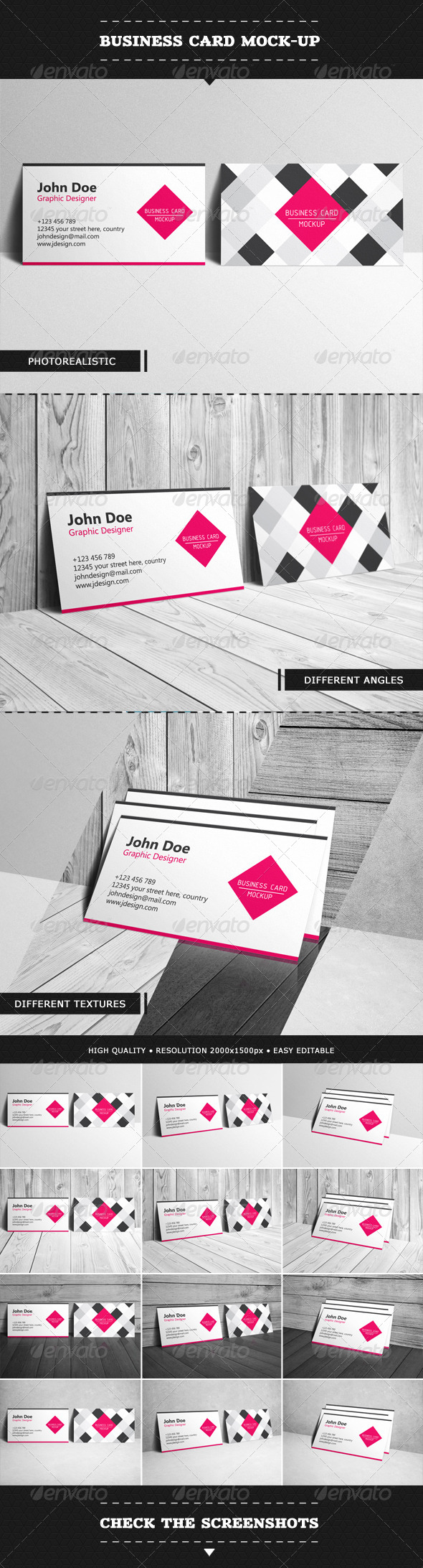 Business Card Mock-up - Product Mock-Ups Graphics