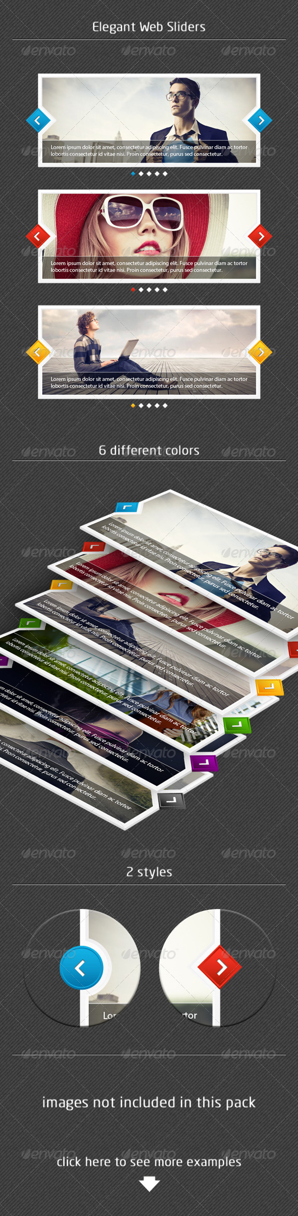 Elegant Web Sliders - Sliders & Features Web Elements