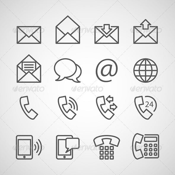 Communication Icons - Business Icons