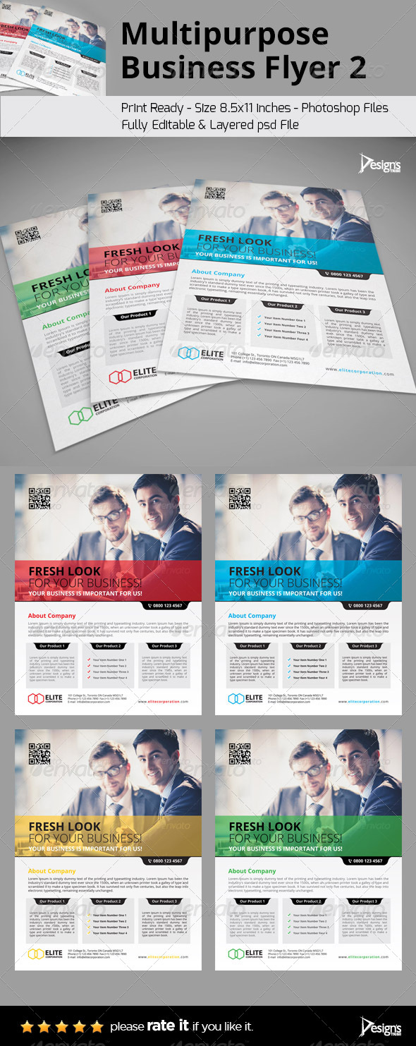 Multipurpose Business Flyer 2 - Flyers Print Templates