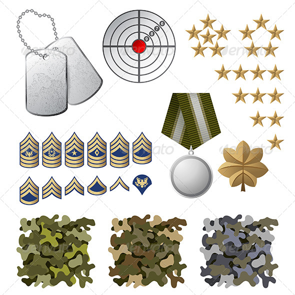 Military Icons - Miscellaneous Vectors