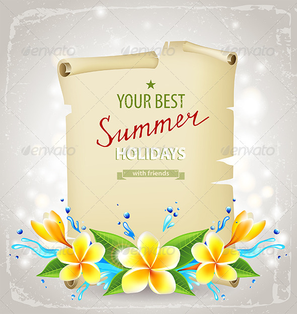 Summer Time Background - Backgrounds Decorative