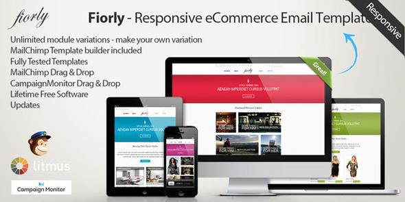 Fiorly - Responsive eCommerce Email Template - Catalogs Email Templates