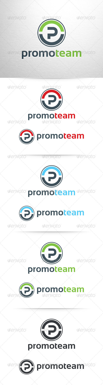 Promo Team - Letter P Logo - Letters Logo Templates