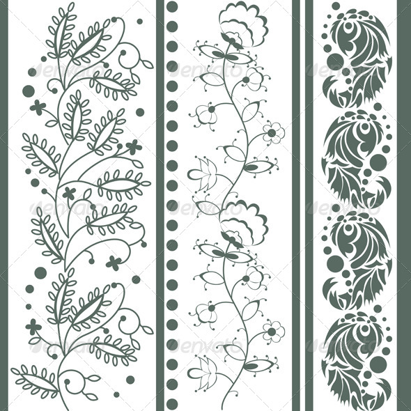 Vintage Floral Ornaments - Flourishes / Swirls Decorative