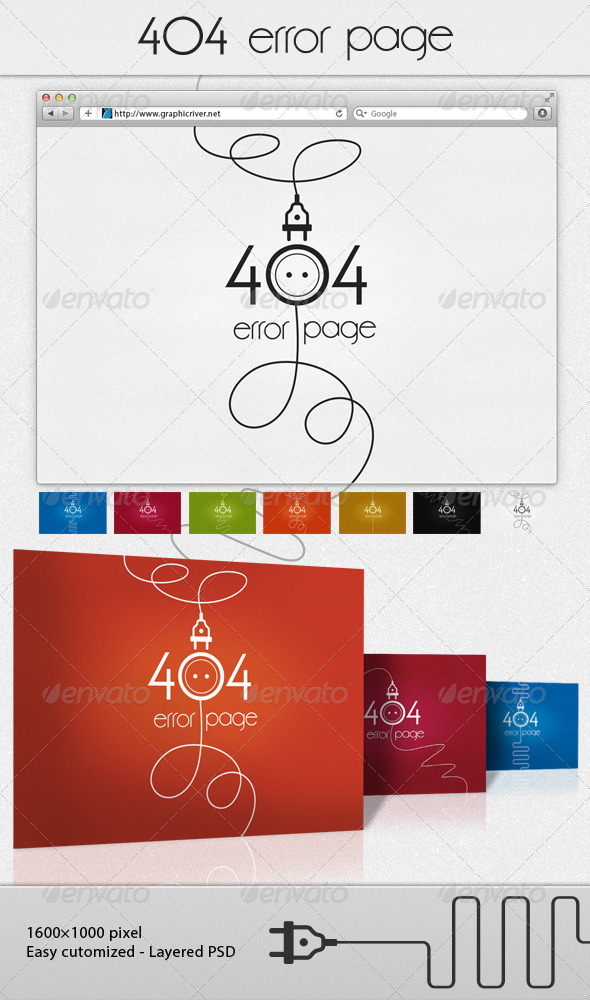 socket 404 error page - 404 Pages Web Elements