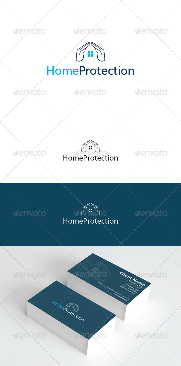 Home Protection Logo Template - Buildings Logo Templates