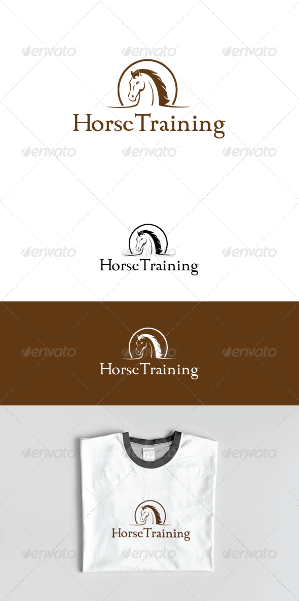 Horse Training Logo Template - Animals Logo Templates