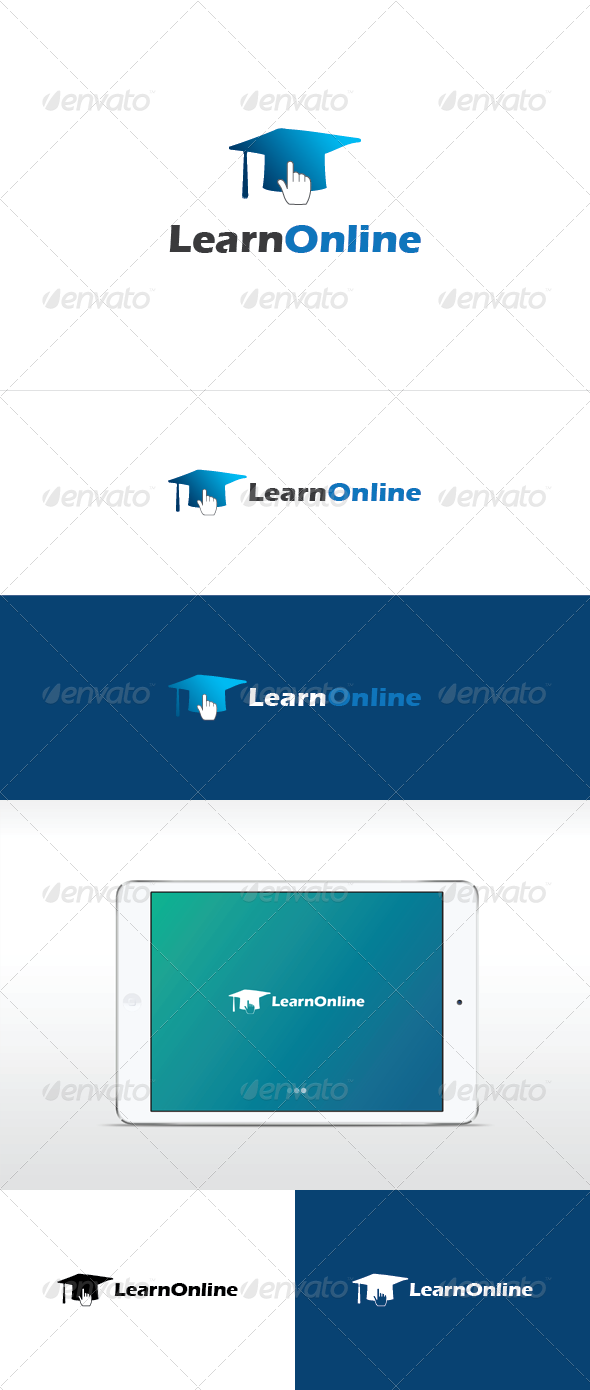 Learn online logo template  - Symbols Logo Templates