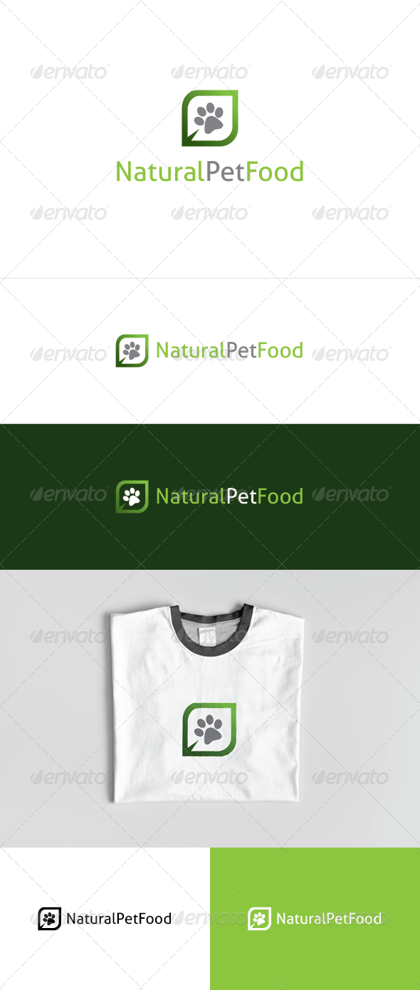Natural Pet Food Logo Template - Nature Logo Templates