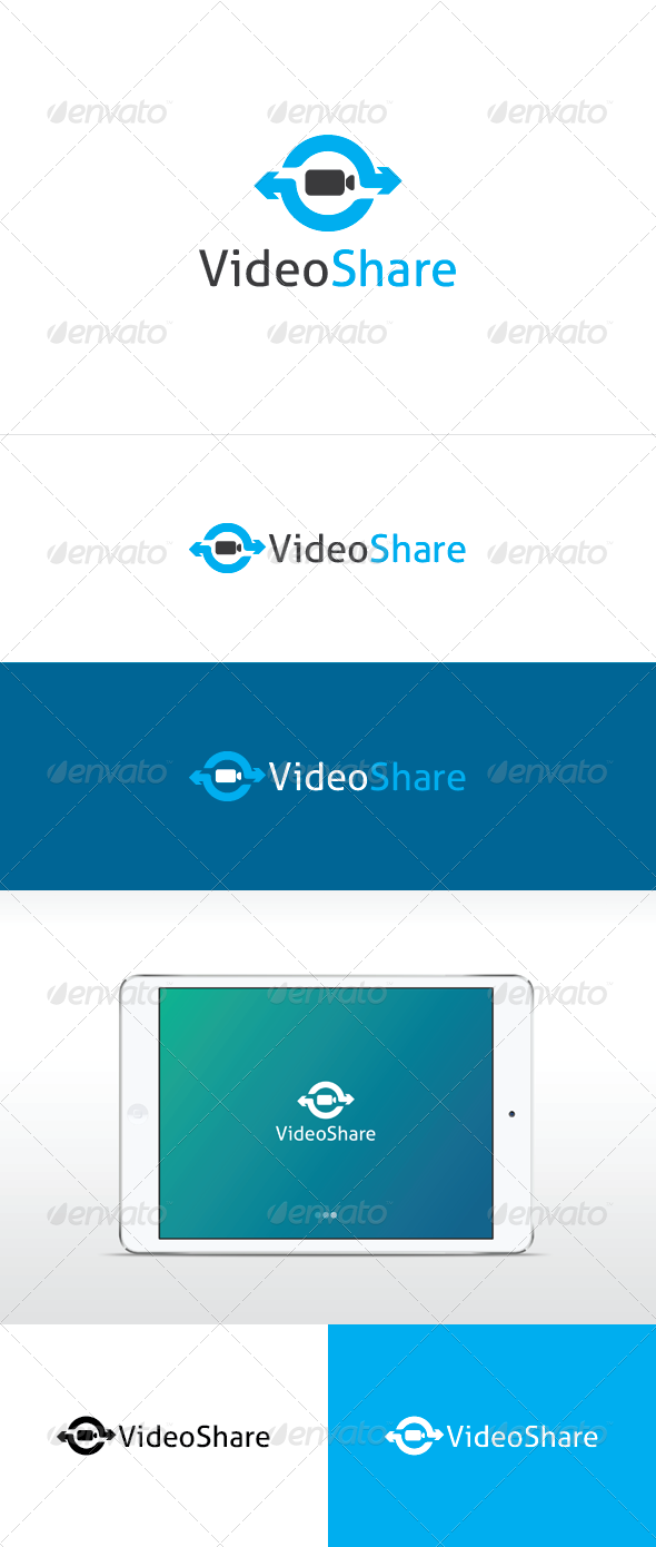 Video Share Logo Template - Objects Logo Templates