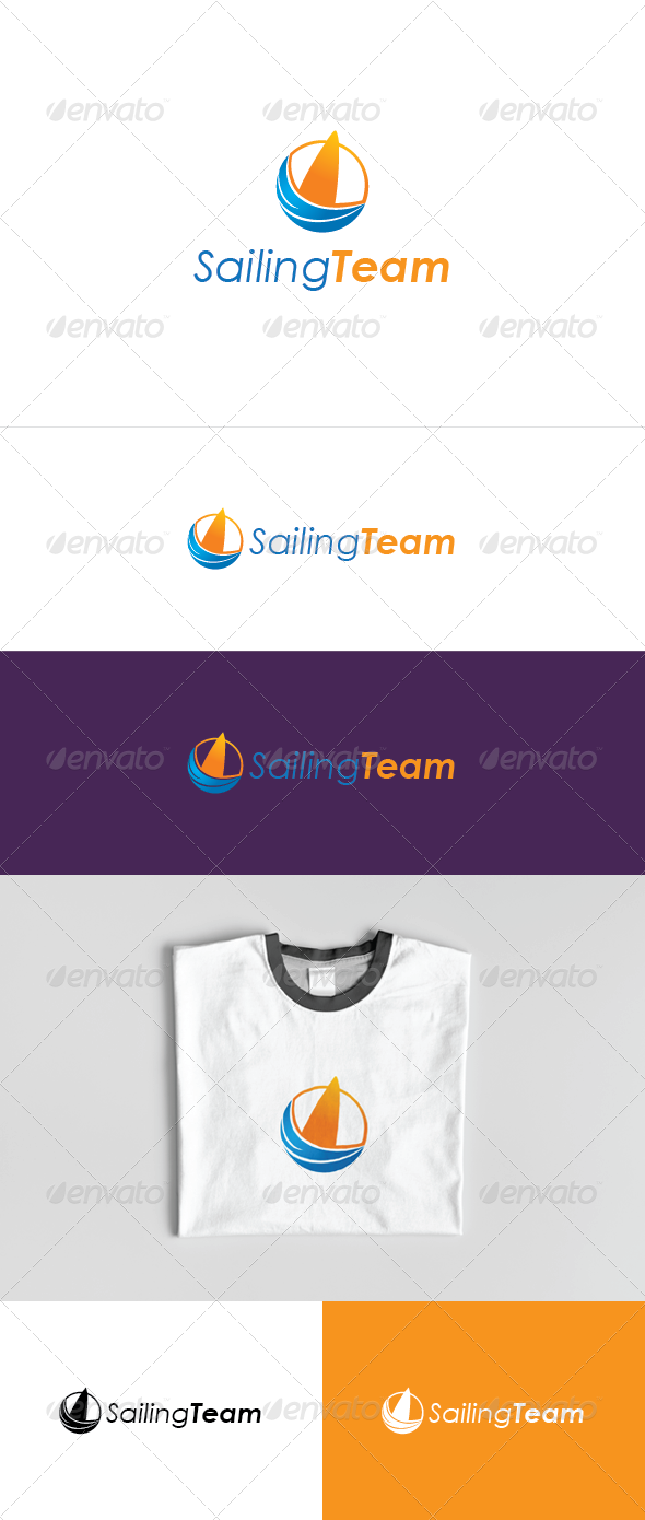Sailing Team Logo Template - Vector Abstract
