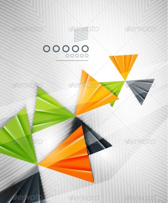 Geometric Shape Abstract Triangle Background - Web Technology