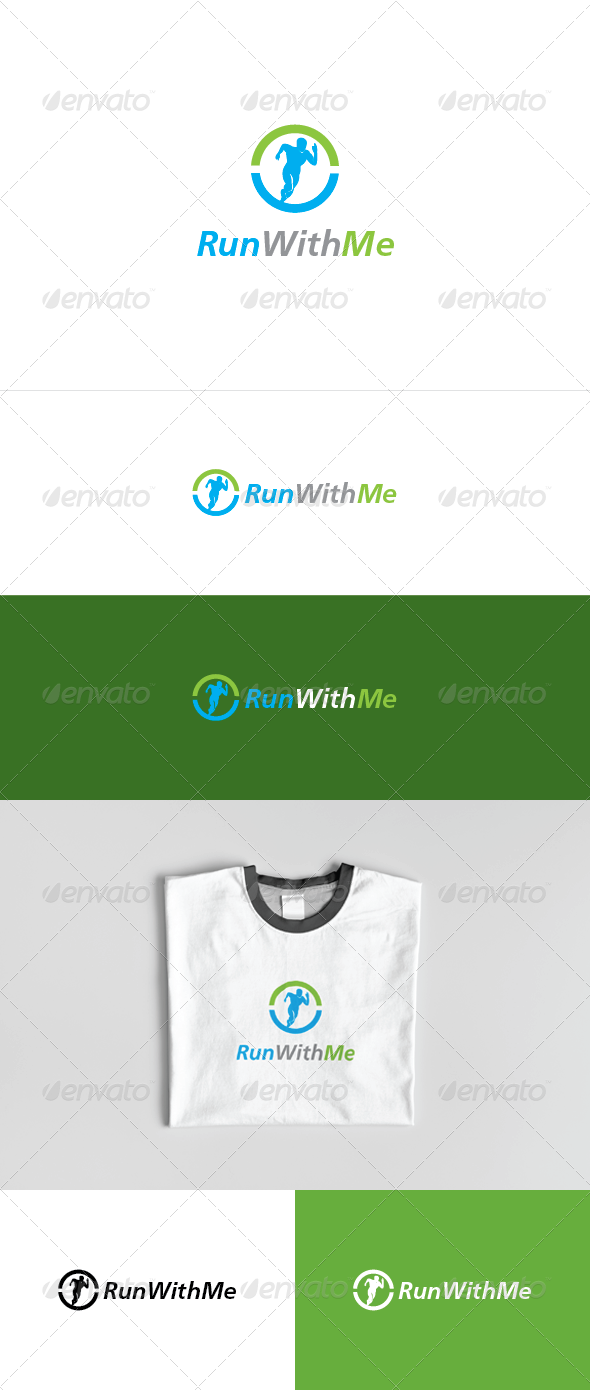 Run With Me Logo Template - Abstract Logo Templates