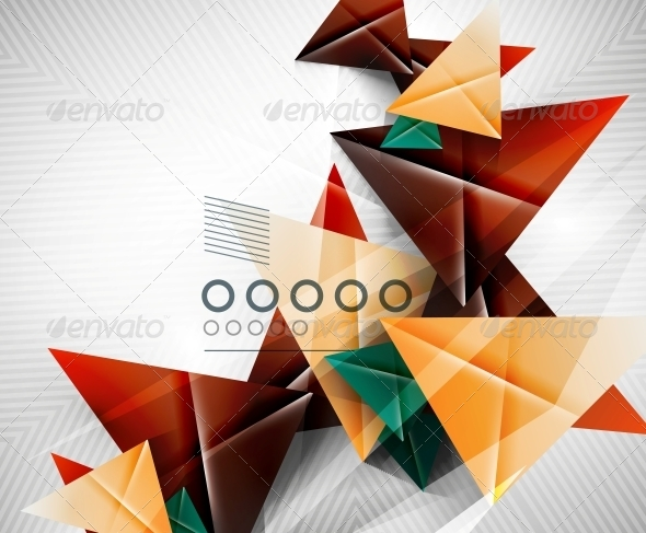 Geometric Shape Abstract Triangle Background - Web Technology