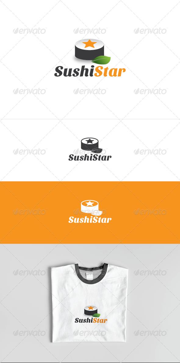 Sushi Star Logo Template - Food Logo Templates