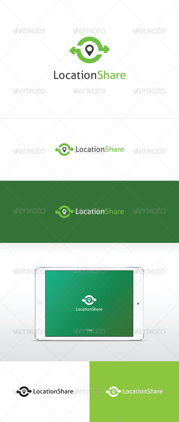Location Share Logo Template - Objects Logo Templates