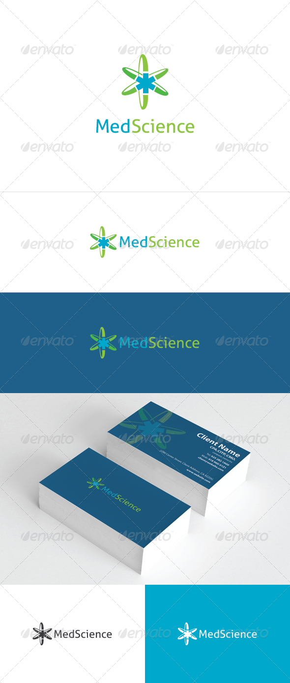 Med Science Logo Template - Vector Abstract