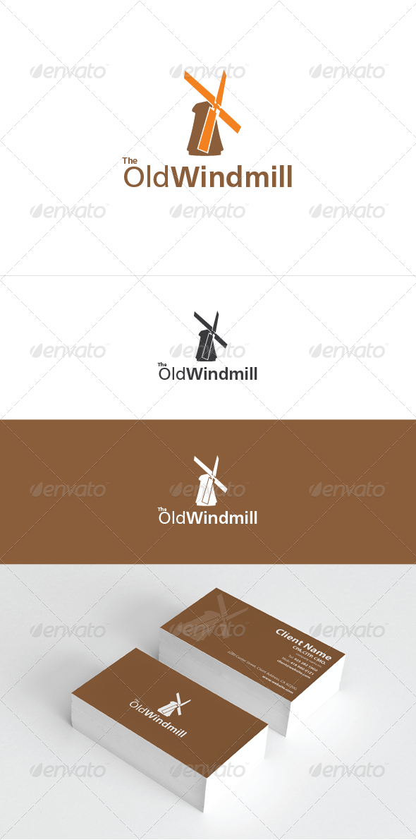 The Old Windmill Logo Template - Objects Logo Templates