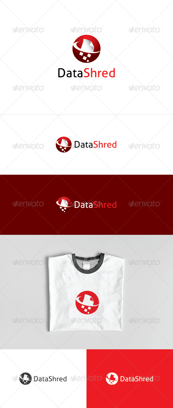 Data Shred Logo - Objects Logo Templates