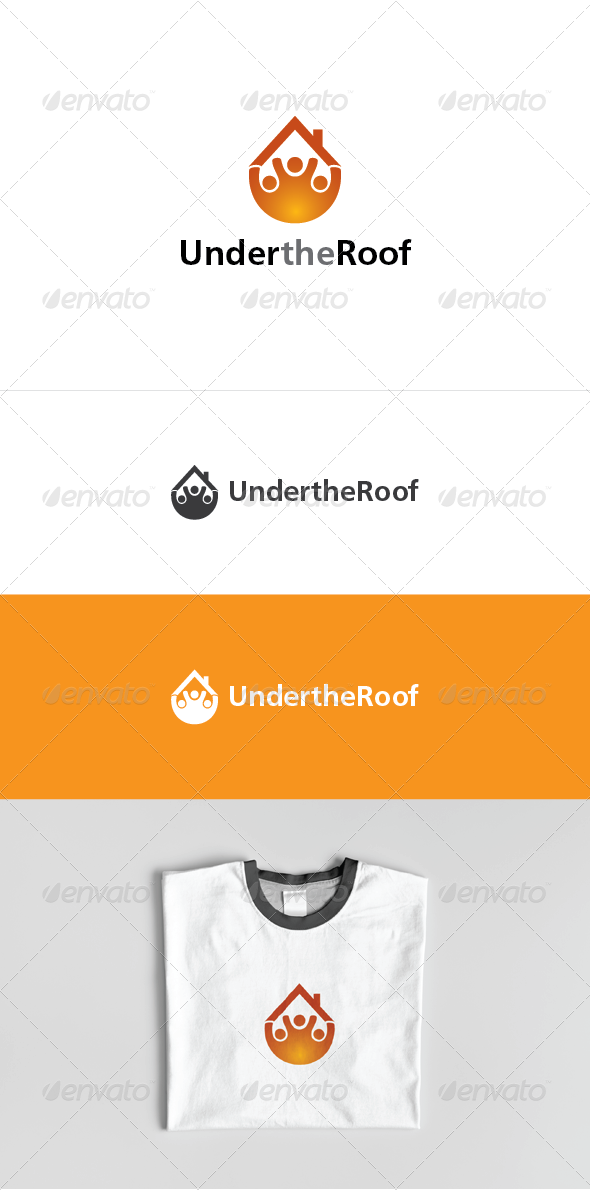 Under the Roof Logo Template - Buildings Logo Templates