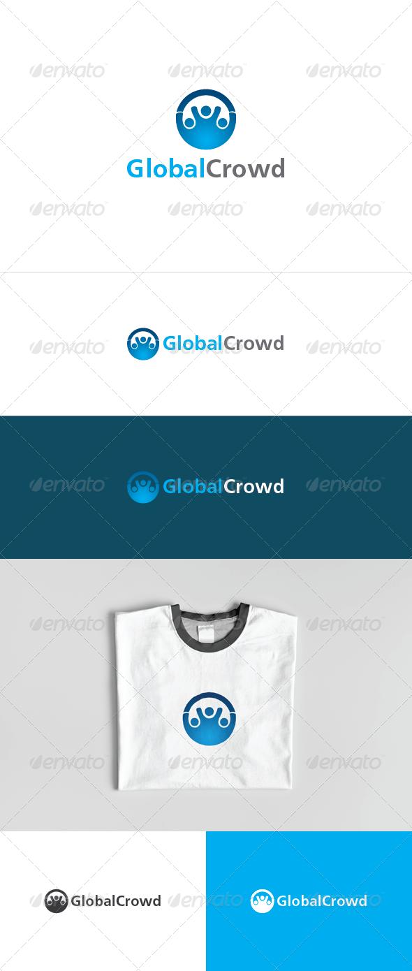 Global Crowd Logo Template - Humans Logo Templates