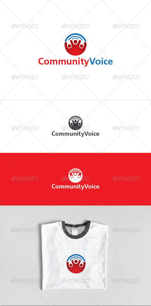 Community Voice Logo Template - Humans Logo Templates