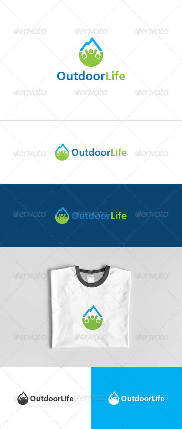 Outdoor Life Logo Template - Nature Logo Templates