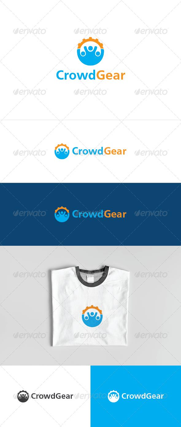 Crowd Gear Logo Template - Humans Logo Templates