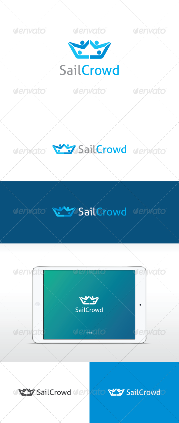 Sail Crowd Logo Template - Humans Logo Templates