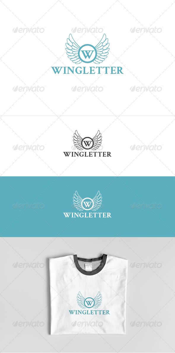 Wing Letter Logo Template - Letters Logo Templates