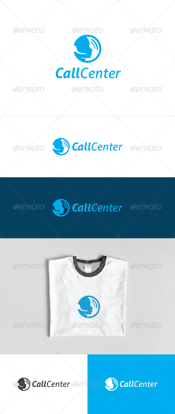 Call Center Logo Template - Humans Logo Templates