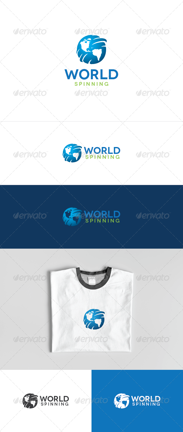 World Spinning Logo Template - Nature Logo Templates