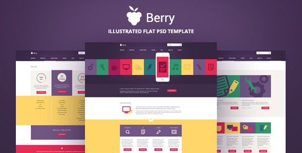 Berry - Illustrated PSD Template - Portfolio Creative