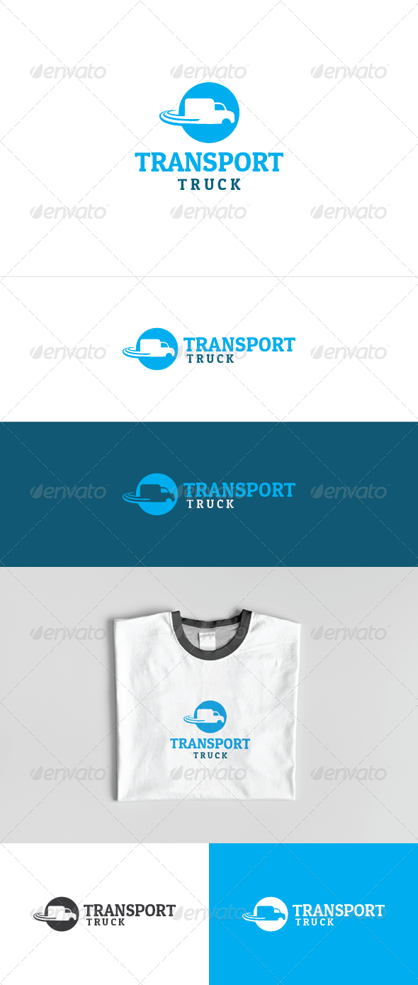 Transport Truck Logo Template  - Objects Logo Templates